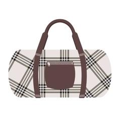 Fashion modern travel bag vector