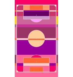 Football field plan on striped backdrop vector
