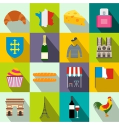 France flat icons vector