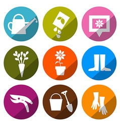 Gardening Icons - Tools Set vector image