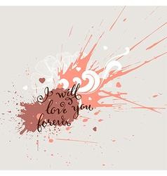 Grunge valentines background vector