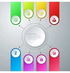 Infographics eight options vector