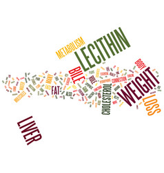Lecithin and weight loss text background word vector