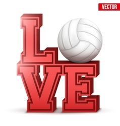 Love volleyball inscription vector