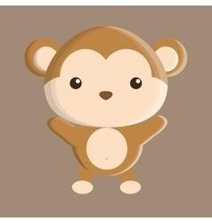 Monkey animal cute little design vector
