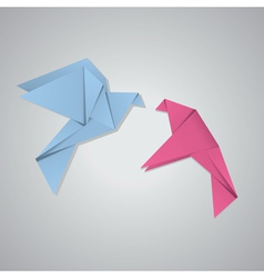 Pair of pigeons2 vector image vector image