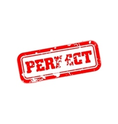 Perfect rubber stamp vector image vector image