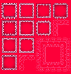 Square frames with eastern elements vector