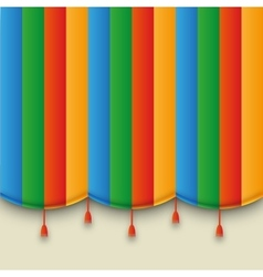 Theatre color carnival curtain vector
