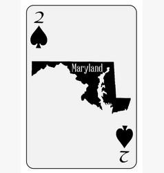 usa playing card 2 spades vector image vector image