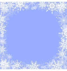 Winter greeting card with snowflakes frame vector image vector image