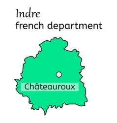 Indre french department map vector