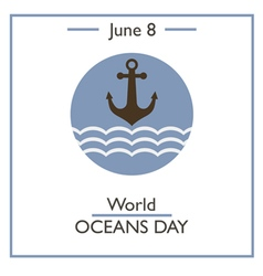 World oceans day vector