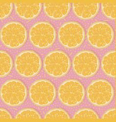 Seamless oranges background vector