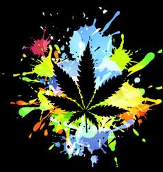 medical marijuana ink blots vector image