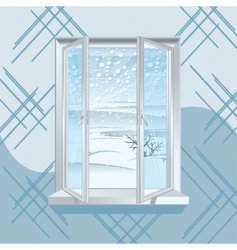 winter window vector image