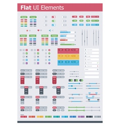 Flat UI elements vector image