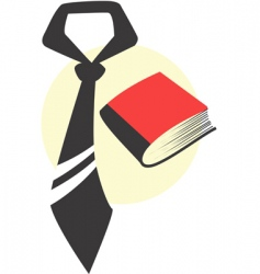 Tie and book vector