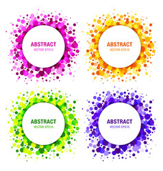 Set of bright circles frames vector