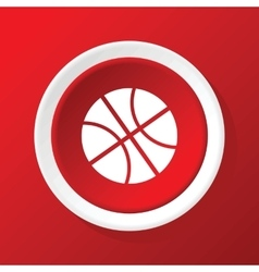 Basketball icon on red vector