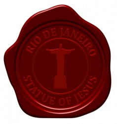 Statue of jesus wax seal vector