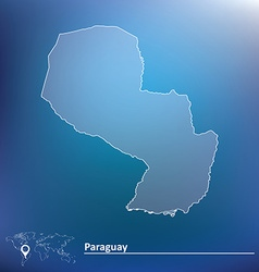 Map of paraguay vector