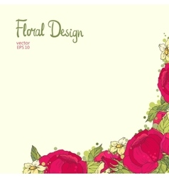 Floral frame made of peonies vector