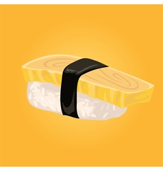 Sashimi with omelette japanese food vector