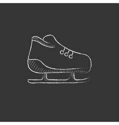 Skate drawn in chalk icon vector