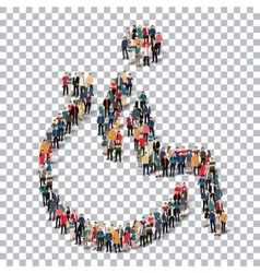 Disabled people sign 3d vector