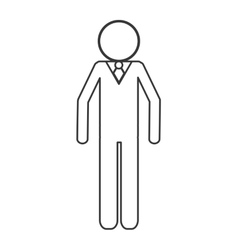 Businessman pictogram icon vector