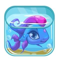 Aquarium game app icon vector image vector image