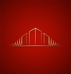 Architect logo over red vector