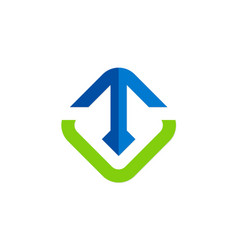 arrow up square logo vector image vector image