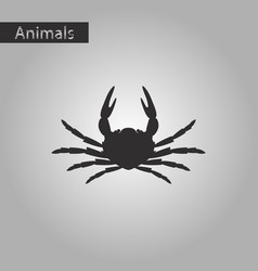 Black and white style icon of crab vector