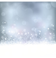 Blue Christmas winter background vector image vector image