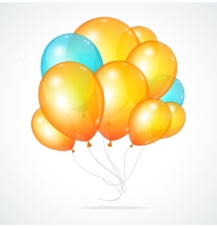 Color glossy multicolored balloons vector