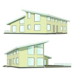 Familya house 2 views vector