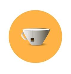 Flat cup of tea vector image vector image