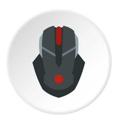 Gaming mouse icon circle vector