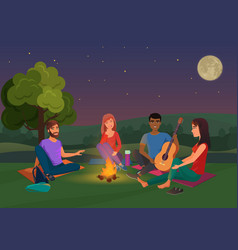Group of friends sitting vector