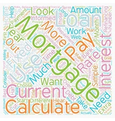 How To Choose The Right Mortgage Calculator For vector image vector image
