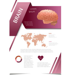 Internal human organs infographic brain vector