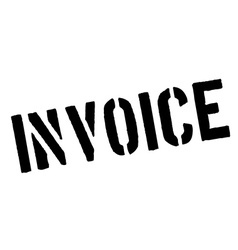 Invoice black rubber stamp on white vector