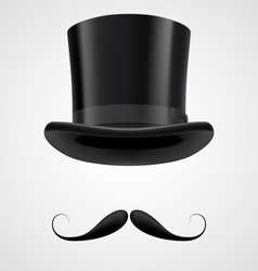 moustaches and stovepipe hat victorian gentleman vector image