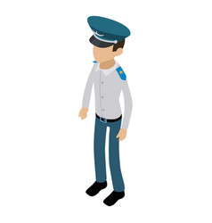 Officer icon isometric 3d style vector