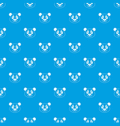 panda pattern seamless blue vector image