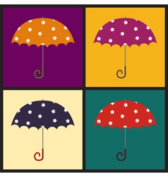 Retro umbrellas vector image