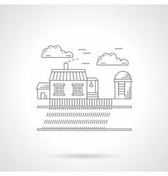 Rural scene detail line icon vector image