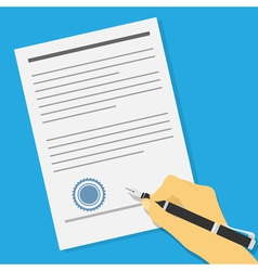 Signing contract vector